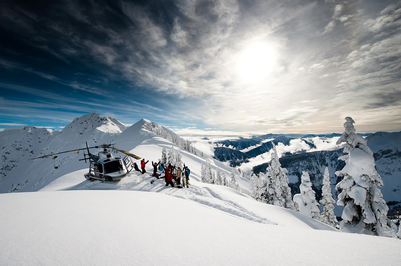 Guided heli skiing tours for beginners and experienced heliskiers