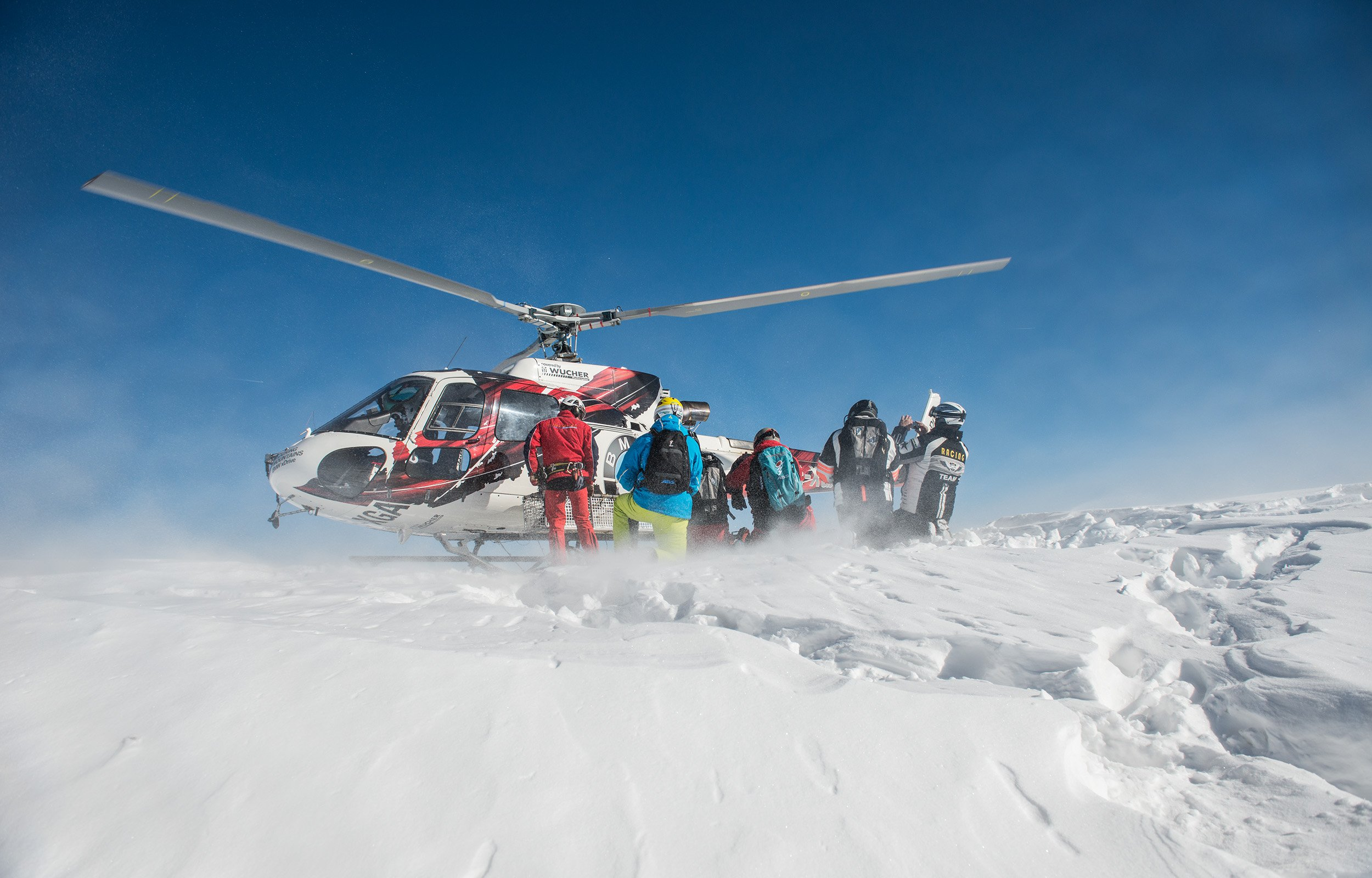 Sign up for guided heli skiing trips for beginners and experienced heliskiers