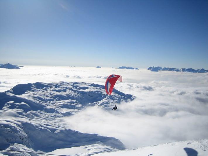 Alternative Activities Ski Holiday - Paragliding