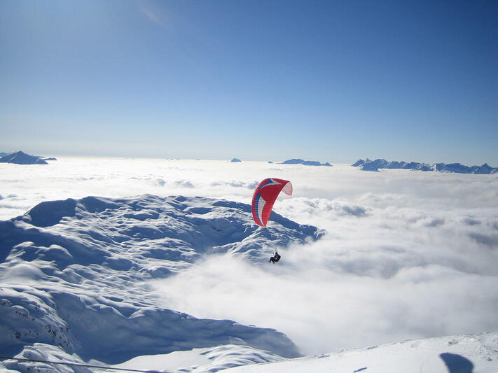 Alternative Activities Ski Holiday - Paragliding