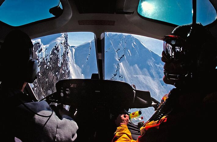 Reasons Why Every Skier Should Go Heli Skiing - Helicopter Mountain View